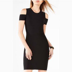 BCBGMaxAzria Monicka Cold-Shoulder Black Dress XS